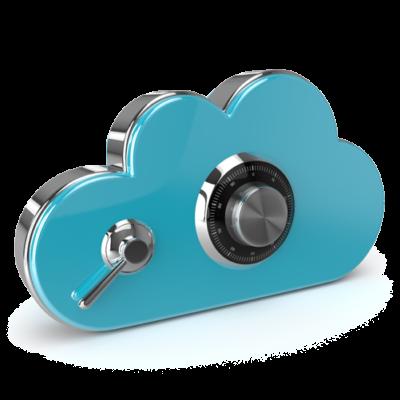 GDPR - Cloud data storage with padlock